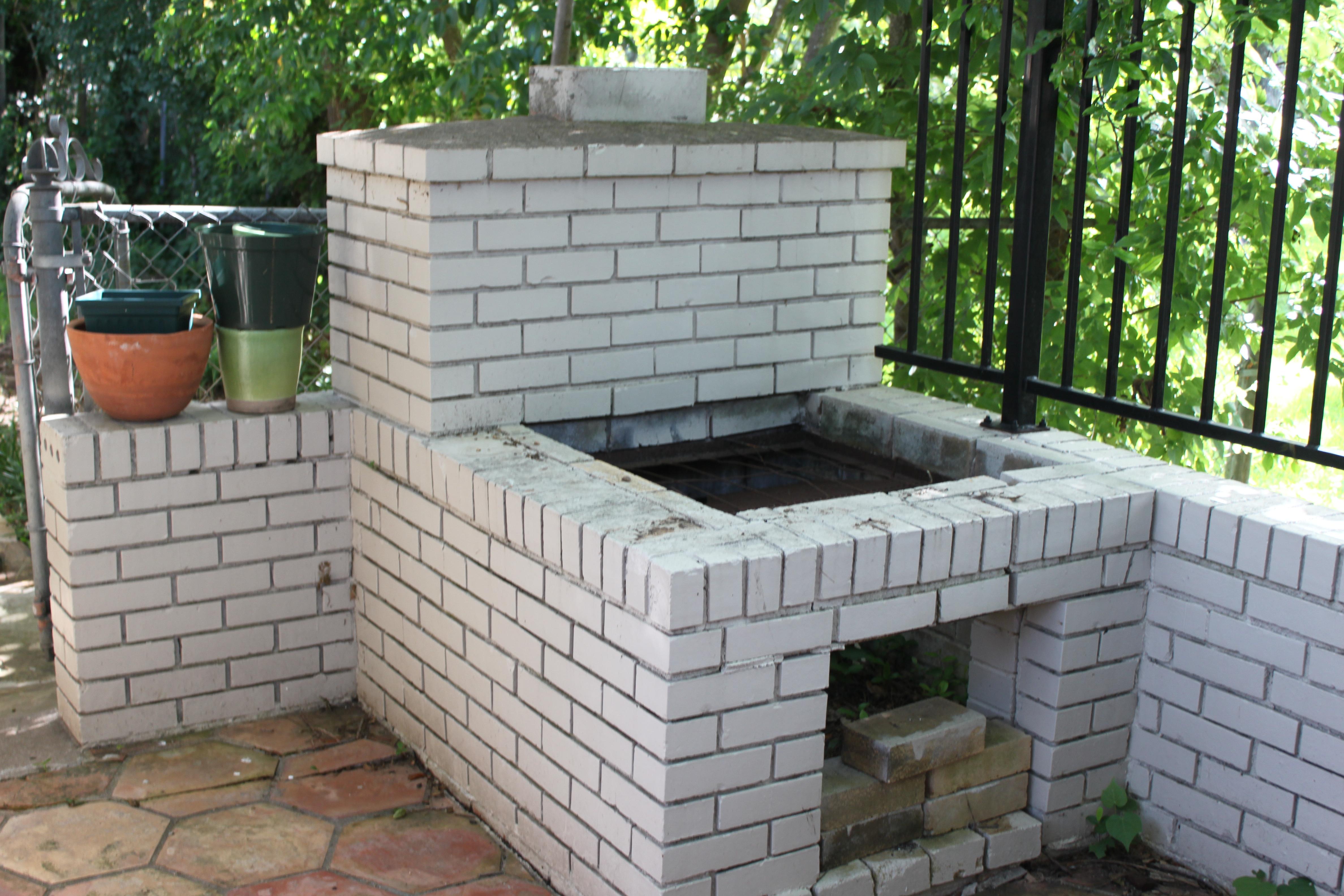 Custom Backyard Smokers : Backyard Builtin Smoker Project  Austin Urban Gardens