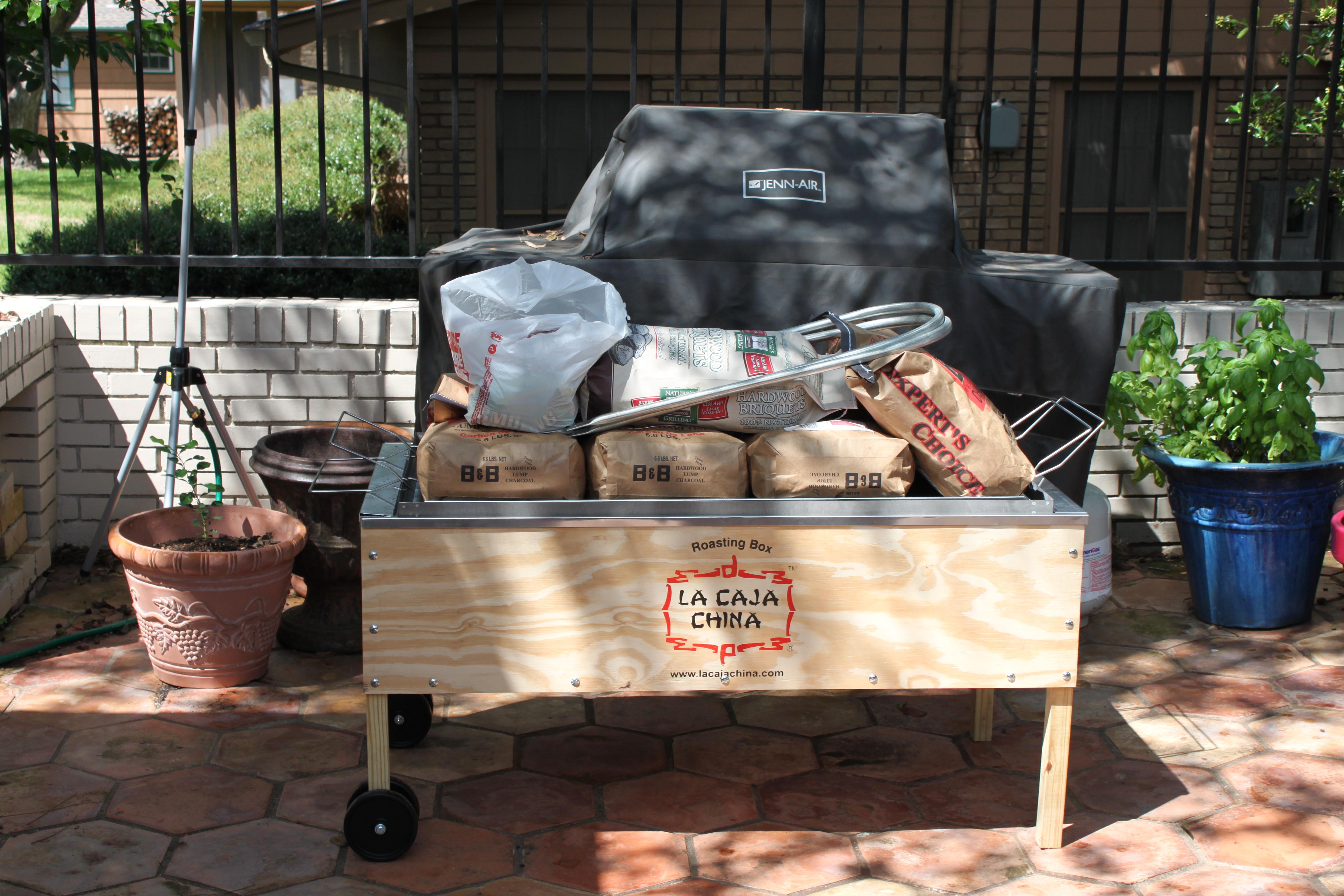 a23511a1941 La Caja China Roasting Box. Marshall ordered a 50 pound pig ...