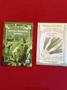 Organic Scallion and Romaine seeds
