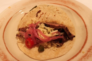 Richardson Farms flank steak taco