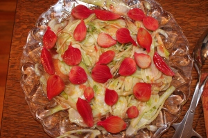 Shaved fennel salad with citrus and marinated beets