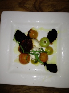 Mozzarella with Heirloom Tomatoes